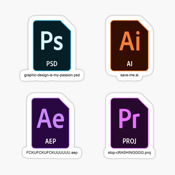 Adobe project files stickers Sticker