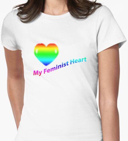 My Feminist Heart ~ Rainbow T-Shirt