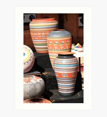 Santa Fe Pottery Art Print