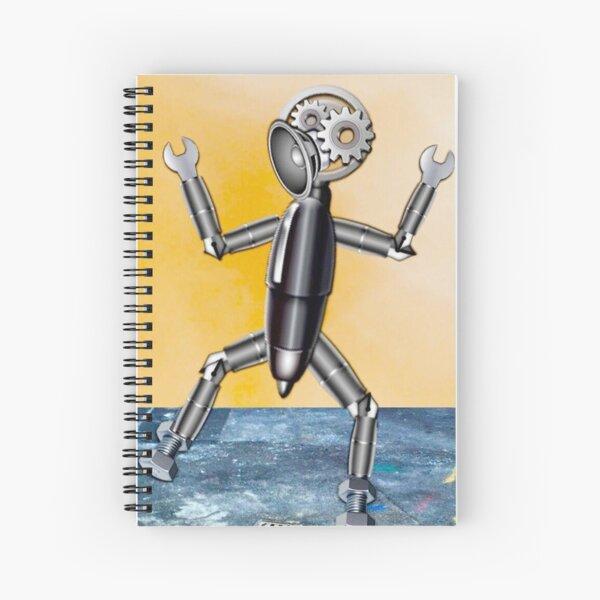 Emoji Robot Spiral Notebook