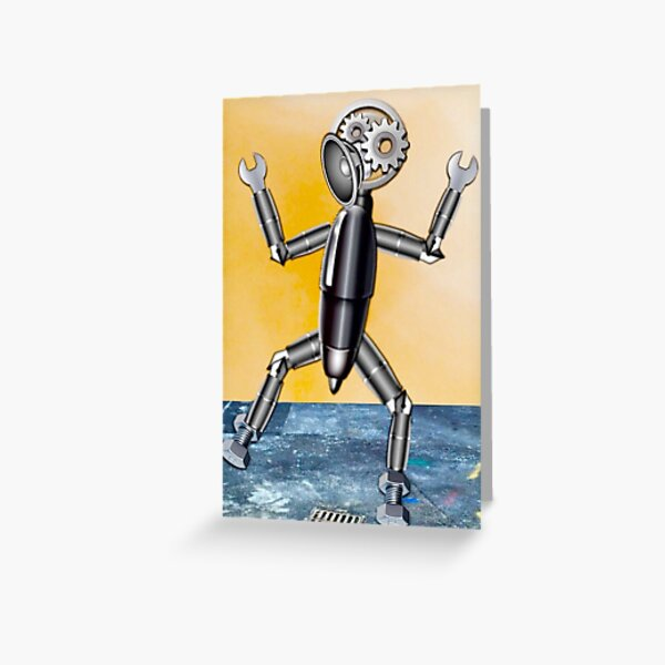 Emoji Robot Greeting Card