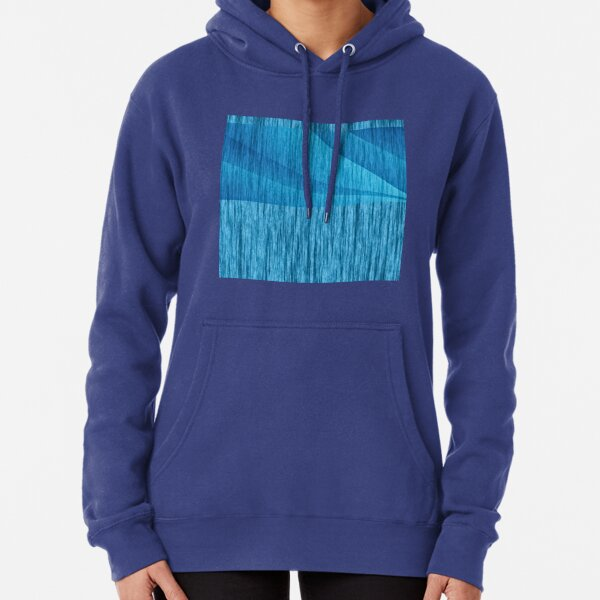 Sea Weave     textured layers blue Pullover Hoodie