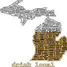 Drink Local (MI) (with Outline) by uncmfrtbleyeti
