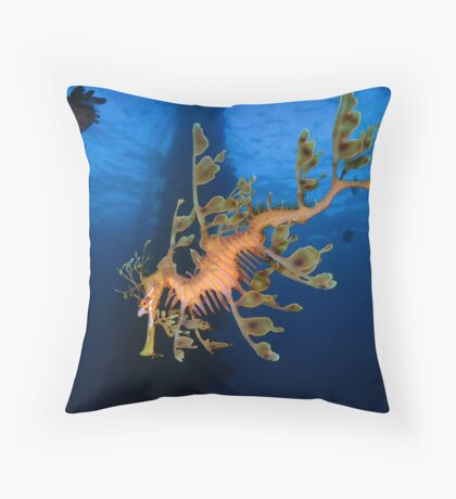 Phycodurus eques Throw Pillow