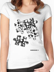 Warehouse 13 Items Puzzle Women's Fitted Scoop T-Shirt