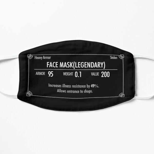 Masque facial légendaire de Skyrim Masque sans plis