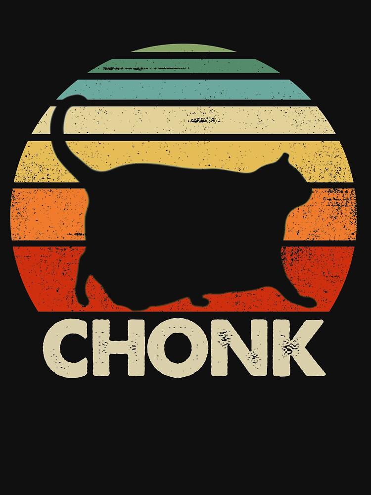 Chonk Cat Retro Vintage by MarlinContreras