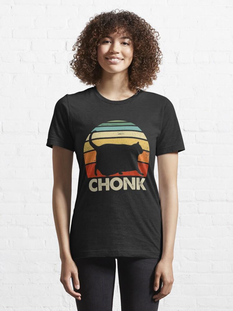 Alternate view of Chonk Cat Retro Vintage Essential T-Shirt