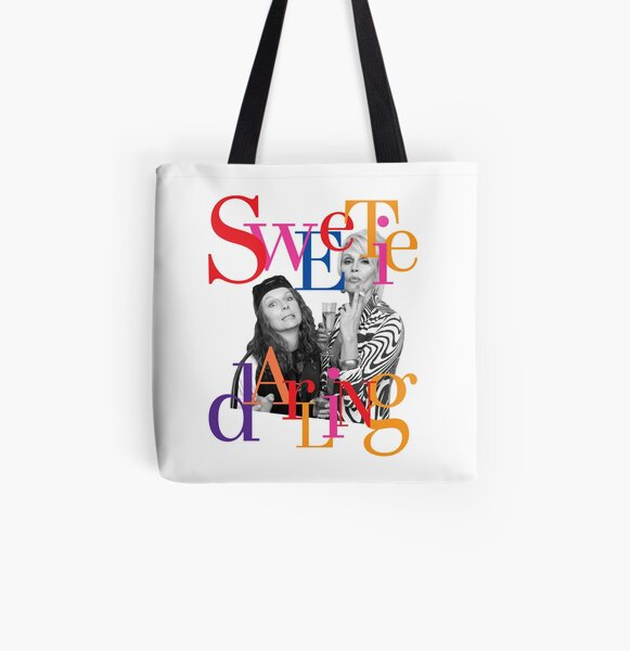 Eddie & Patsy are the Best, Sweetie Darling! All Over Print Tote Bag