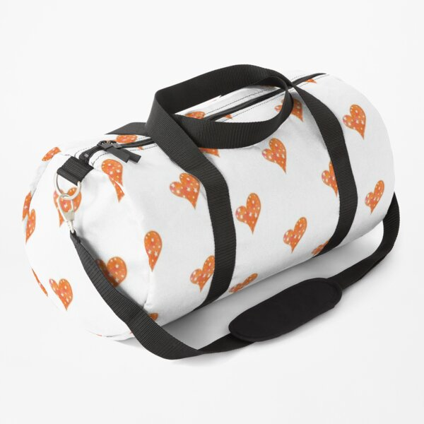 ORANGE HEART Duffle Bag