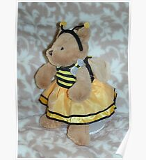 Bumble Bee Teddy Poster