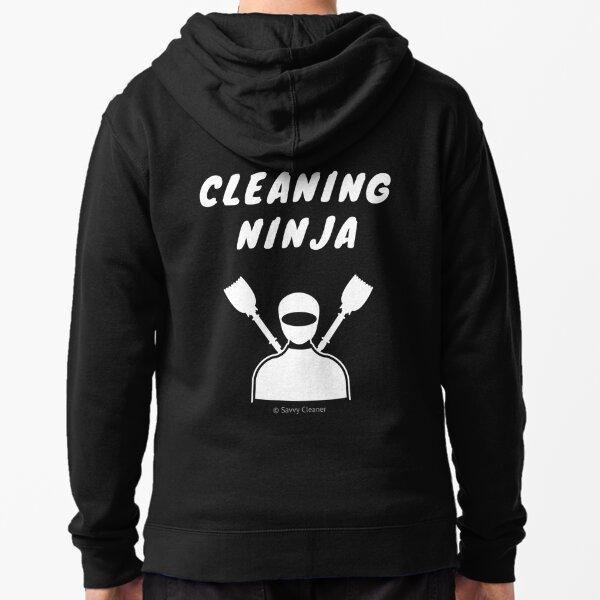 Cleaning Ninja Zipped Hoodie