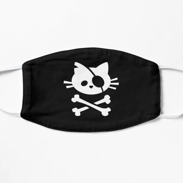 cette conception est pour vous!  Excellente idée cadeau pour votre ami qui a besoin de quelque chose de cool à apporter au bureau ou pour vos enfants qui aiment tout ce qui concerne les chats et les pirates! Masque sans plis