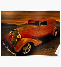 Sedan Delivery Stormy Weather Poster