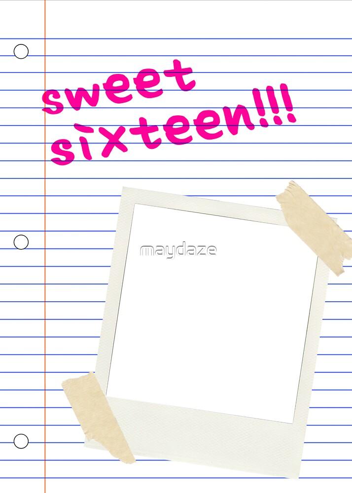 sweet sixteen polaroid  by maydaze