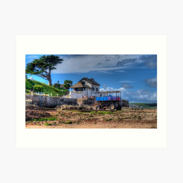 Pilchard Inn, Burgh Island, Bigbury on Sea, Bantham Art Print