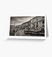 Piazza Navona Greeting Card