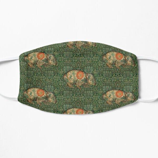 Rossetti's Wombat in Green Flower Garden Flat Mask