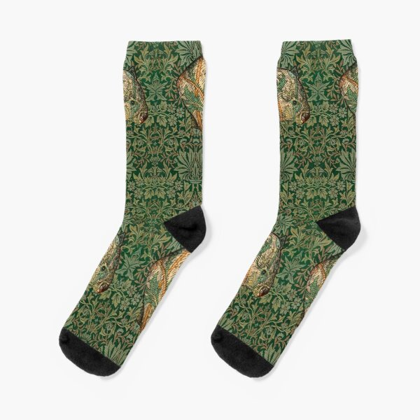 Rossetti's Wombat in Green Flower Garden Socks