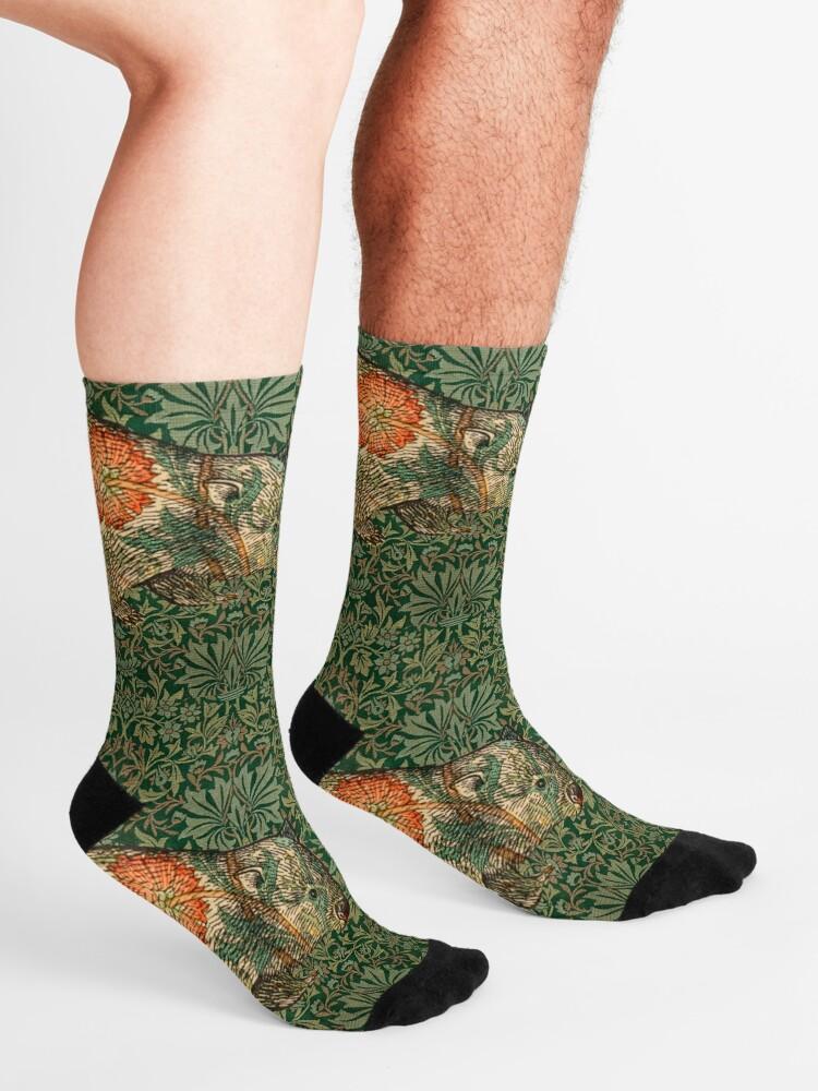 Alternate view of Rossetti's Wombat in Green Flower Garden Socks