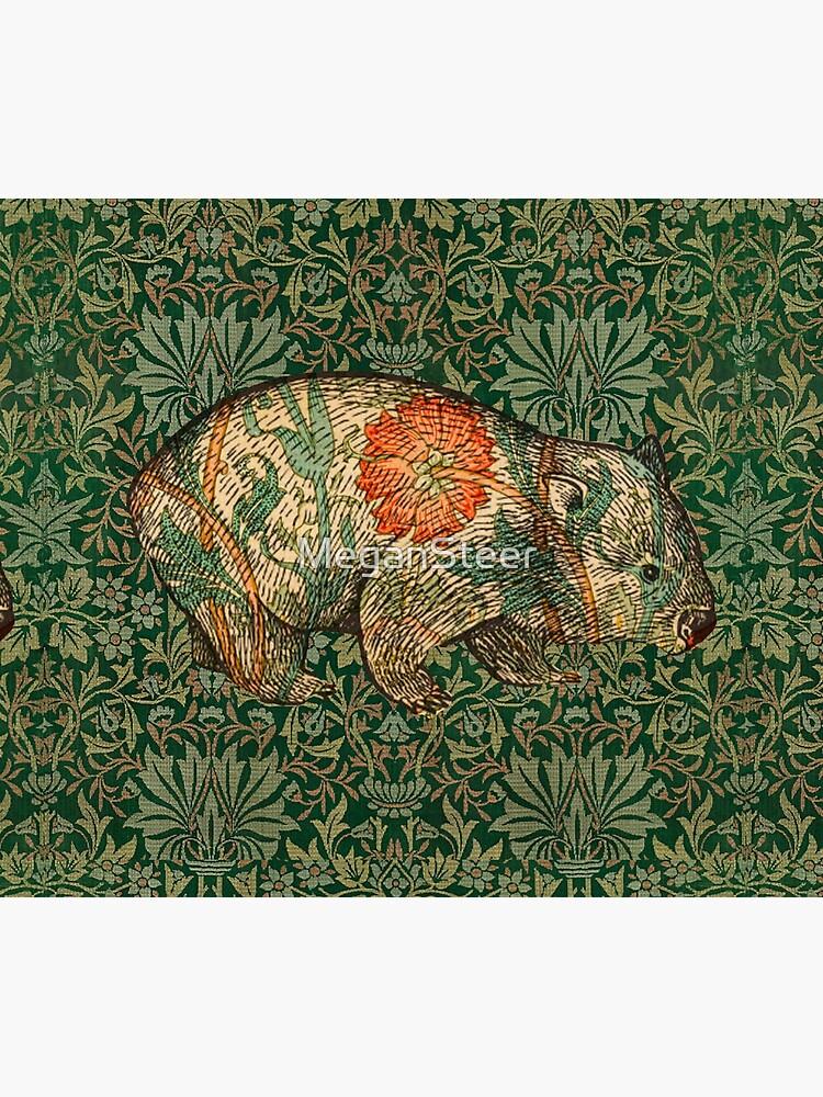 Rossetti's Wombat in Green Flower Garden by MeganSteer