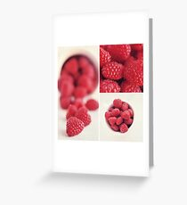 Raspberry Collage Greeting Card