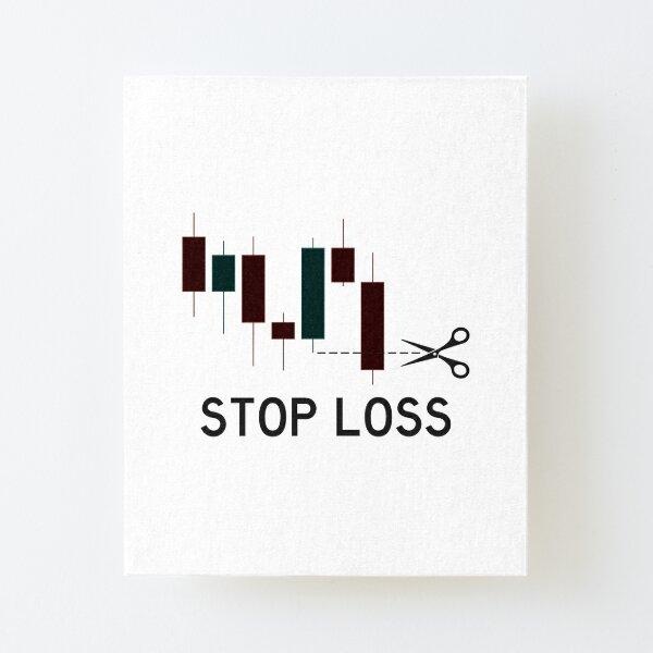 Detener la pérdida de Lámina montada de lienzo