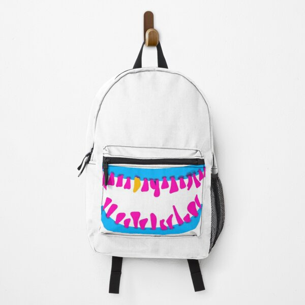 Zombie's teeth pop art graffiti without background Backpack