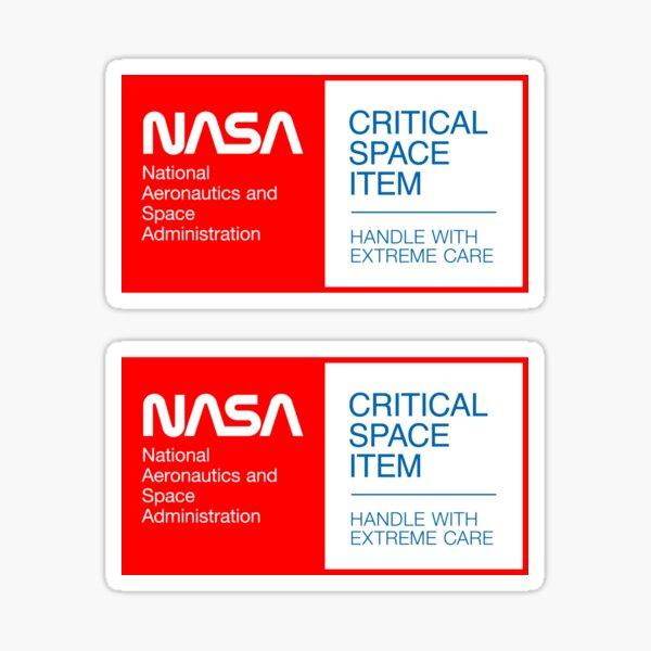 NASA - Critical Space Item (Red, 2 in 1) Sticker