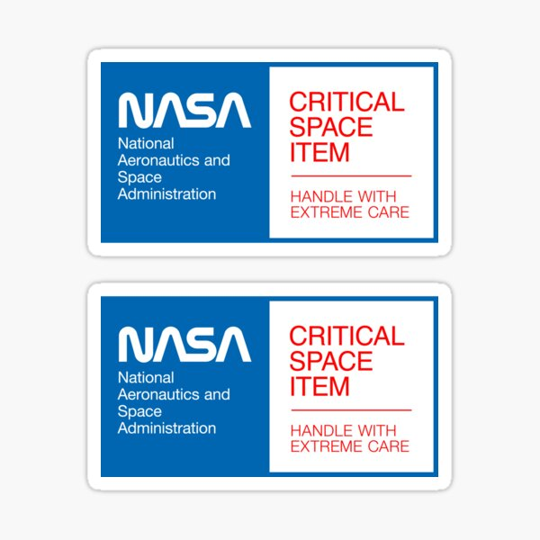 NASA - Critical Space Item (Blue, 2 in 1) Sticker