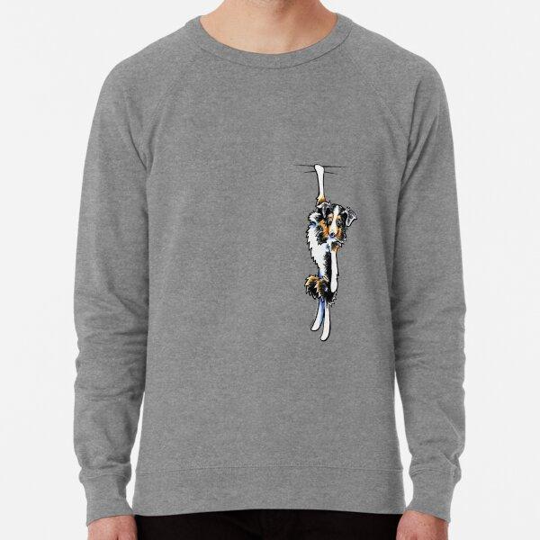 Clingy Australian Shepherd Lightweight Sweatshirt