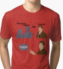 Weeping Angel VS Castiel Tri-blend T-Shirt