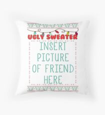 Ugly Christmas Sweater Throw Pillow