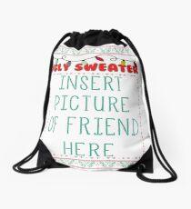 Ugly Christmas Sweater Drawstring Bag