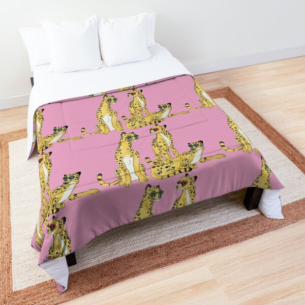 Cheetahs in glasses Comforter