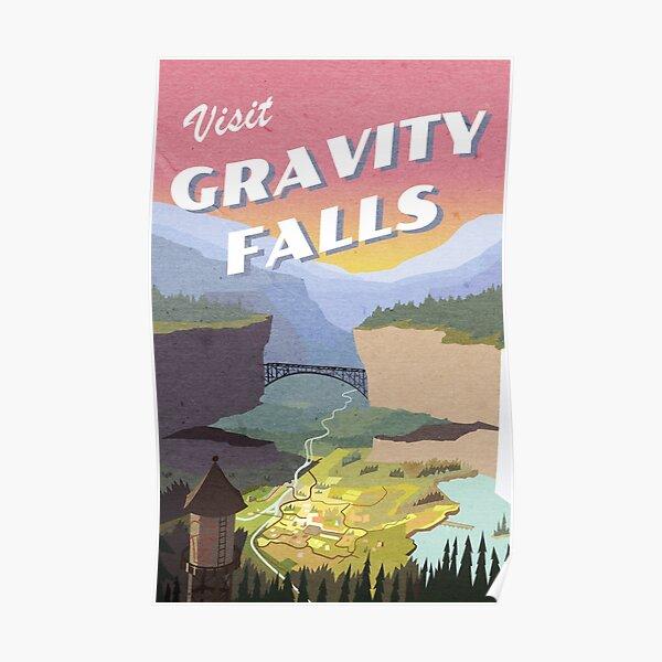 Visitez la carte postale de Gravity Falls Poster