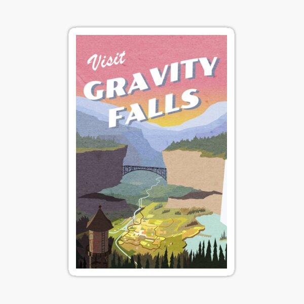 Visit Gravity Falls Postcard Sticker