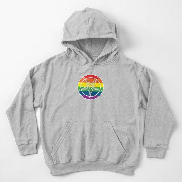 Rainbow Baphomet Kids Pullover Hoodie