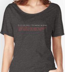 PowerShell Error 2 Women's Relaxed Fit T-Shirt
