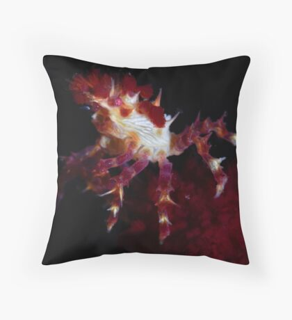 Candy Crab Throw Pillow