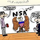 Liu Bolin and the NSA Editorial Cartoon by Binary-Options
