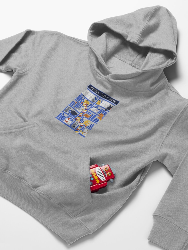 Alternate view of Library Box Who Kids Pullover Hoodie