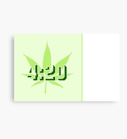 4:20 - Legalize Cannabis VRS2 Canvas Print