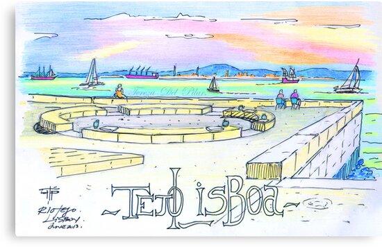 Ribeira das Naus sketch. Lisbon by terezadelpilar ~ art & architecture