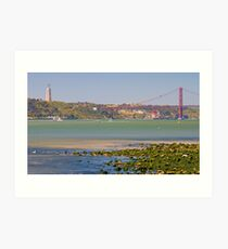 Tejo. Lisbon bridge. Art Print