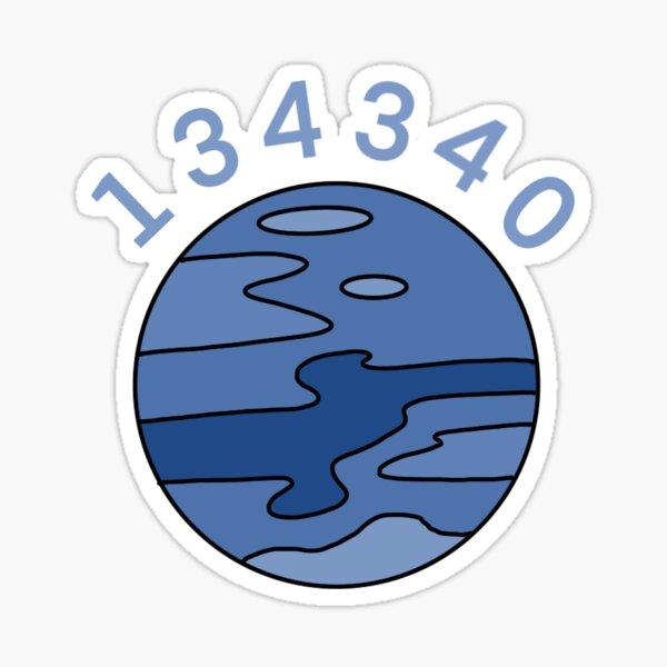 134340 -pluto- simple design Sticker