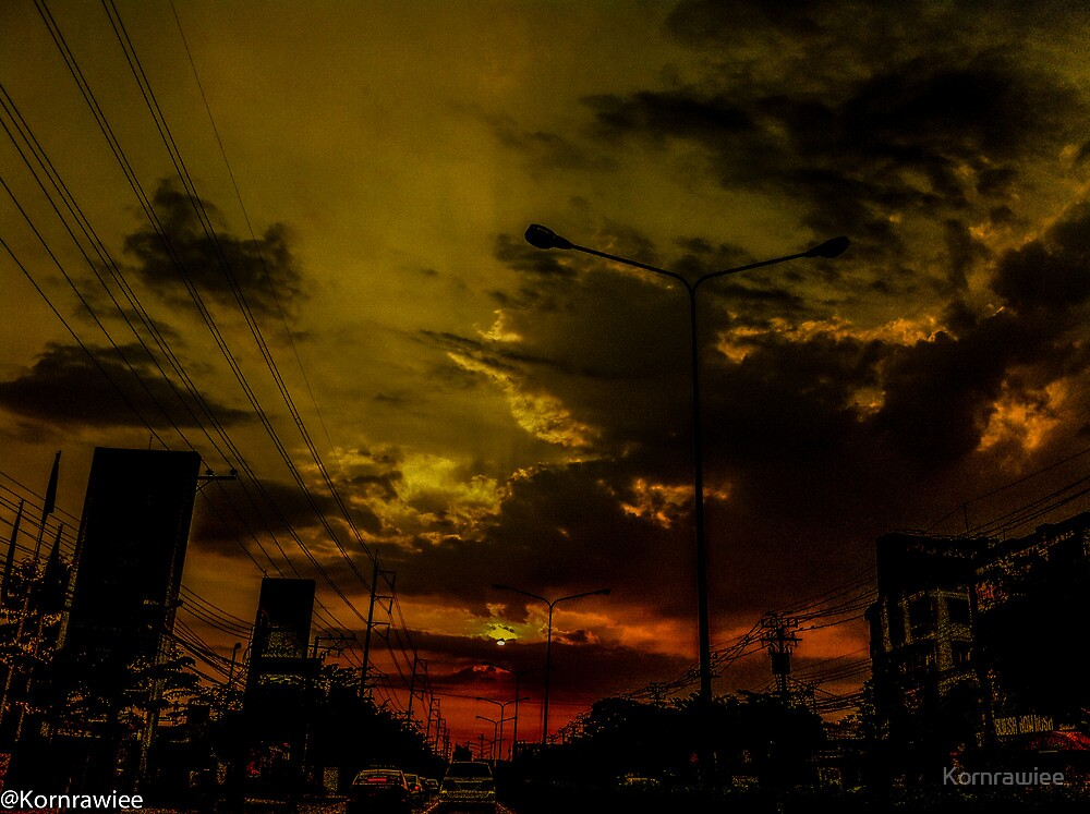 Metro sunset... by Kornrawiee