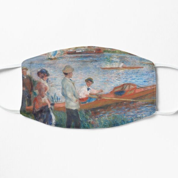 Oarsmen at Chatou Painting by Auguste Renoir Flat Mask