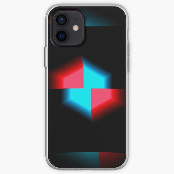 Blue and Red Blooming Neon iPhone Soft Case