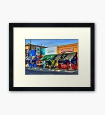 Remembering Historic Whiskey Row Framed Print